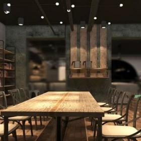 简约复古风咖啡厅装修效果图