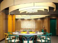 川行时尚主题火锅餐厅装潢效果图案例