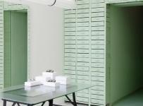 薄荷綠眼鏡店工裝裝潢效果圖案例
