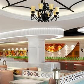 成都海鮮自助餐廳設計效果圖案例