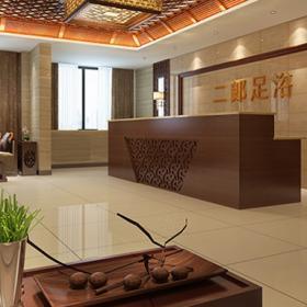 重庆二郎足浴店装修效果图案例