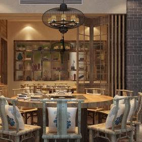 溫江中餐廳設計效果圖案例