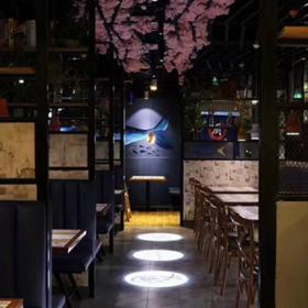 津鱼主题餐厅装潢设计效果图案例