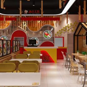 新风格水饺店面设计效果图案例
