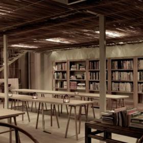 苦竹斋阅读室装潢设计效果图案例