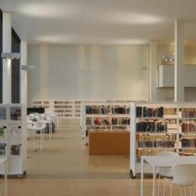 美式大气图书馆设计效果图