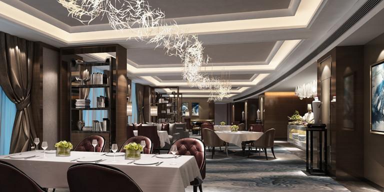 岳池天羿榮耀城酒店餐廳裝修效果圖案例