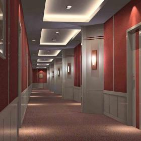 宾馆走廊图 宾馆装修实景图