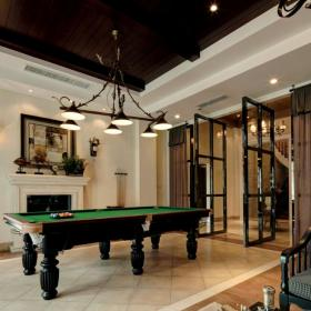 美式风格别墅台球室装修设计