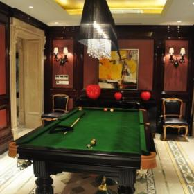 124平典雅欧式风格家庭台球室效果图