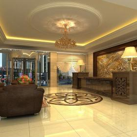 高级宾馆客厅装修图 高级宾馆装修套图