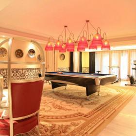 137平摩洛哥风格别墅台球室装修设计