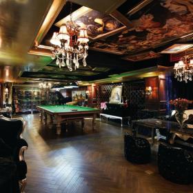 143平高贵典雅欧式客厅台球室设计