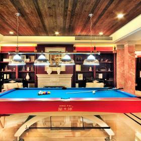 奢华新古典别墅休闲台球室图片