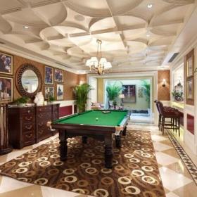140平美式别墅台球室装修效果图