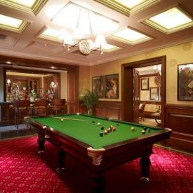 118平美式风格别墅室内台球室图片
