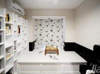 简约风格二居室5-10万70平米地台书架新房设计图