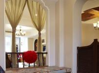 简约风格二居室10-15万地台窗帘图片
