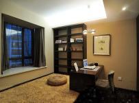 简约风格二居室5-10万80平米客厅地台书架新房家装图片
