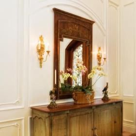 欧式风格卧室复式公寓原木色家居10平卧室装修地台设计图纸效果图