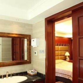 20万以上新古典风格公寓豪华型120平米卫生间背景墙洗手台图片效果图