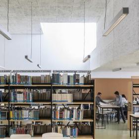 学校图书馆室内装修效果图大全