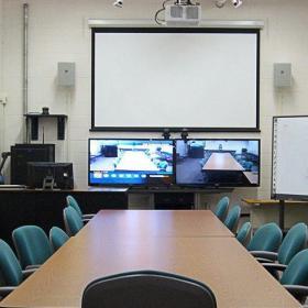 时尚设计20平米多媒体会议室效果图