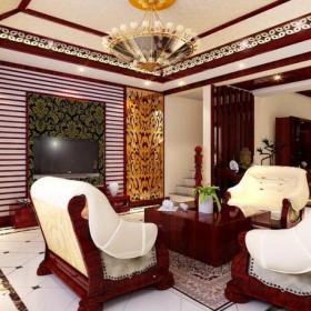 新中式吊灯电视背景墙沙发电视柜中式新古典风格客厅吊顶装修效果图中式新古典风格茶几图片