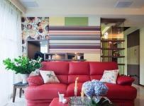 简约风格二居室5-10万90平米客厅沙发新房设计图效果图