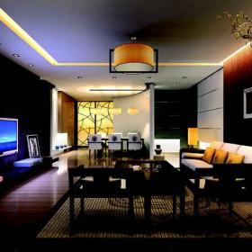 装饰画吊灯茶几100㎡三居室中式新古典风格客厅沙发背景墙装修效果图中式新古典风格沙发图片