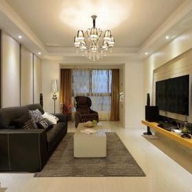 简单大气的客厅电视墙设计效果图欣赏