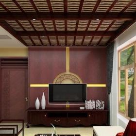 鱼缸大气别墅 时尚大气中式客厅装修图片效果图