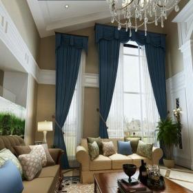美式风格跃层客厅沙发装修图片效果图