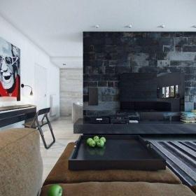 简单大气的客厅电视墙装修图鉴赏效果图