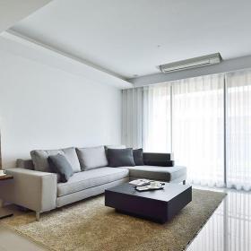 2017现代风格二居室客厅窗户装修设计图片效果图