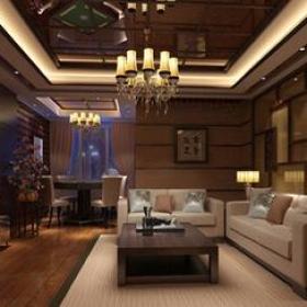 新中式风格茶楼包间吊灯装修效果图-新中式风格茶几图片