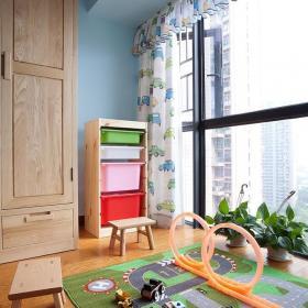 自然清新现代儿童房窗户装修设计效果图