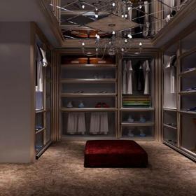 整体衣柜现代吊顶衣柜地下室衣帽间装修效果图