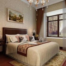 卧室背景墙欧式古典风格三居卧室装修效果图