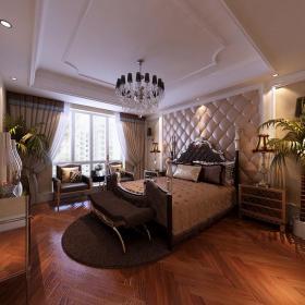 卧室背景墙欧式卧室装修效果图