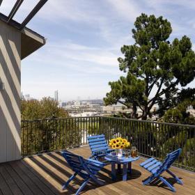 家居摆件花园露台简约风格露天阳台花园装修效果图简约风格椅凳图片