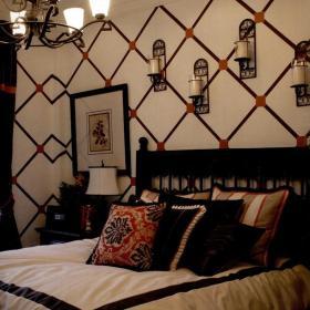 卧室背景墙欧式风格卧室实拍效果图大全