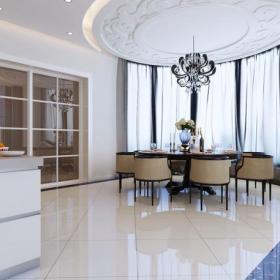 吊灯餐台餐桌餐椅吊顶餐桌餐椅420㎡新中式风格别墅餐厅吊顶装修效果图新中式风格餐桌图片