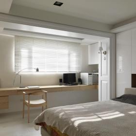 现代简约两居卧室窗户设计效果图