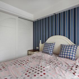 89平方地中海三居之主卧床衣柜设计效果图