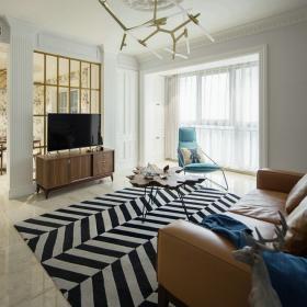 时尚欧美风三居之电视墙设计效果图