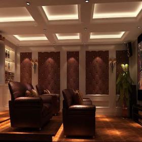 现代沙发家庭影院地下室家庭休闲娱乐室吊顶装修效果图