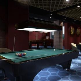 休闲娱乐间地下室简约风格休闲娱乐室装修效果图简约风格台球桌图片