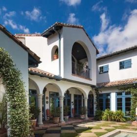 地中海风格客厅2018别墅及富裕型140平米以上小庭院装修效果图