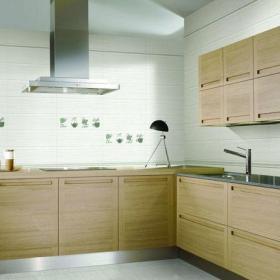 三居室原木色现代简约厨房效果图